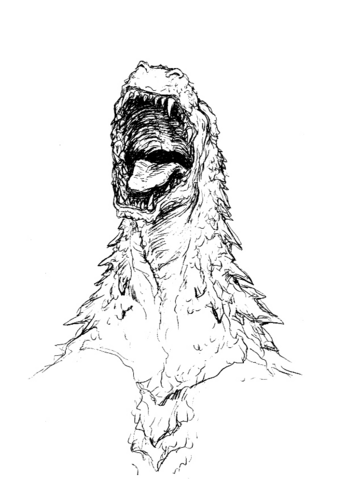 File:Concept Art - Godzilla 2000 Millennium - Godzilla Head 8.png