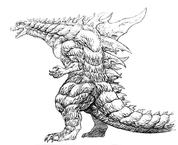 File:Concept Art - Godzilla 2000 Millennium - Godzilla 28.png