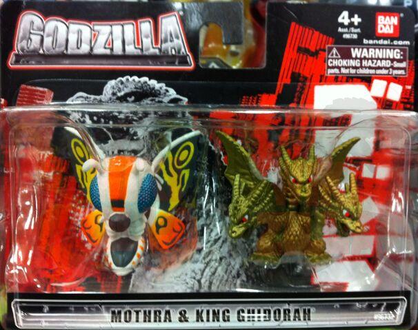 File:Bandai Chibi Figures - Mothra and King Ghidorah