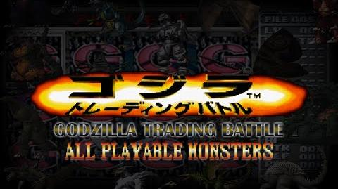 All GODZILLA TRADING BATTLE Monsters