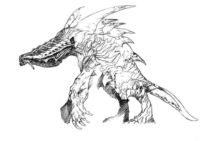 File:Concept Art - Godzilla 2000 Millennium - Orga 72.png