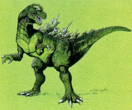 File:Concept Art - Godzilla vs. Destoroyah - Godzilla Junior 17.png