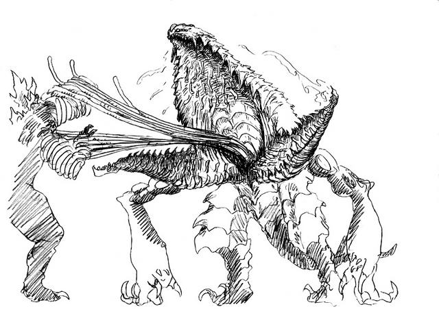 File:Concept Art - Godzilla 2000 Millennium - Orga 105.png