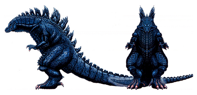 File:Concept Art - Godzilla 2000 Millennium - Godzilla 32.png