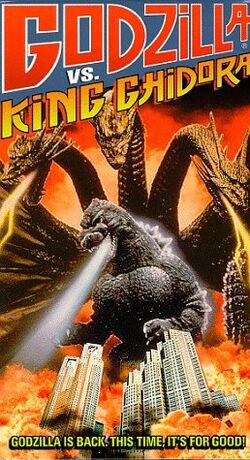 Godzilla vs. King Ghidorah American VHS Cover
