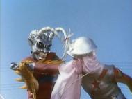 ZF - Episode 4 Silver Garoga Attacking Hotaru