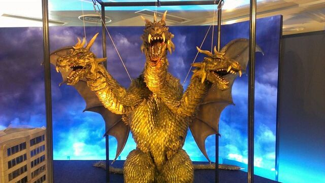 File:Great Godzilla 60 Years Special Effects Exhibition photo by Joseph Rouleau - SokogekiGhido 1.jpg