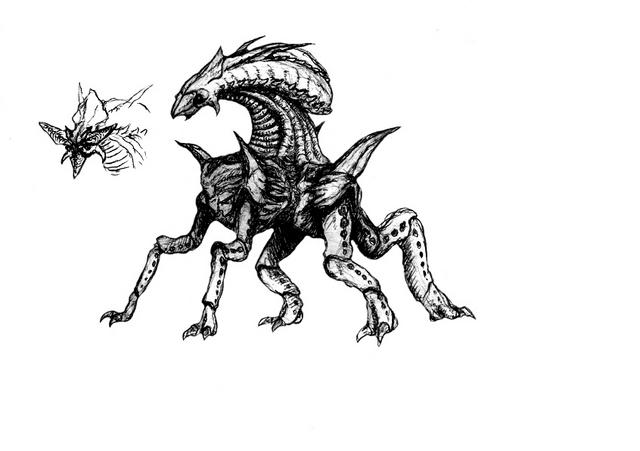 File:Concept Art - Godzilla 2000 Millennium - Orga 84.png