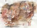 Concept Art - Godzilla Final Wars - Shobijin Cave Mural 1