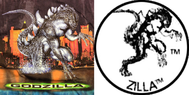 File:Copyright Icon Zilla and GODZILLA 1998 T-Shirt Comparison.png