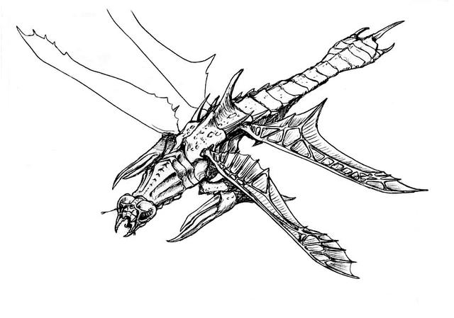 File:Concept Art - Godzilla vs. Megaguirus - Meganula 3.png