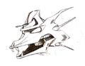 Concept Art - Godzilla vs. King Ghidorah - Mecha-King Ghidorah Head 6