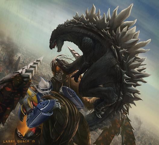 File:Godzilla and jet jaguar vs megalon by nobackstreetboys-d6hh39r.jpg