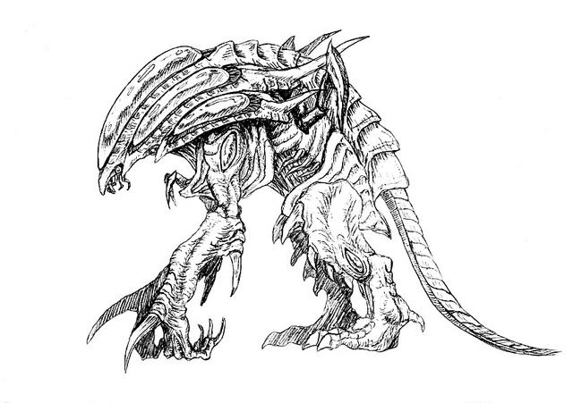 File:Concept Art - Godzilla 2000 Millennium - Orga 93.png