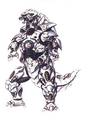 Concept Art - Godzilla Against MechaGodzilla - Kiryu 50