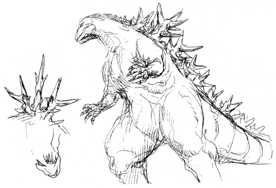 File:Concept Art - Godzilla 2000 Millennium - Godzilla 2.png