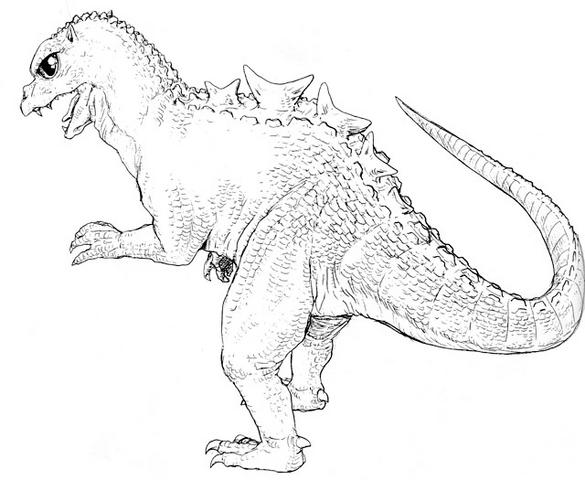 File:Concept Art - Godzilla vs. MechaGodzilla 2 - Baby Godzilla 2.png