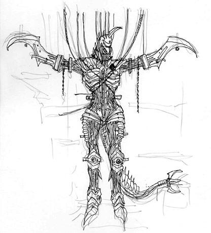 File:Concept Art - Godzilla Final Wars - Mummified Gigan 1.png