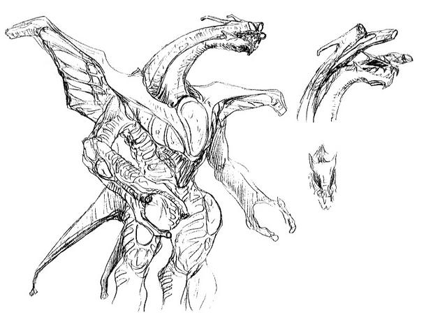 File:Concept Art - Godzilla 2000 Millennium - Orga 38.png