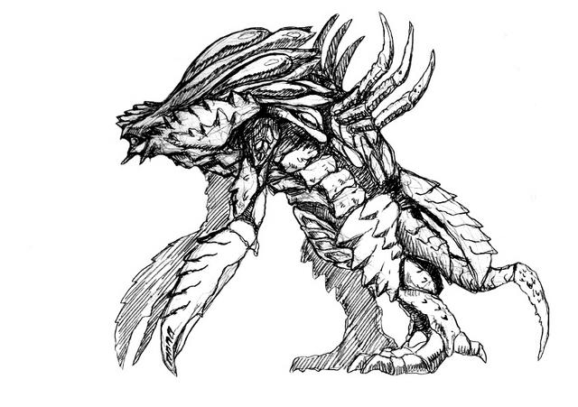 File:Concept Art - Godzilla 2000 Millennium - Orga 91.png