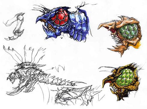 File:Concept Art - Godzilla vs. Megaguirus - Megaguirus 2.png