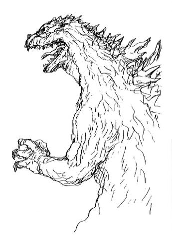 File:Concept Art - Godzilla 2000 Millennium - Godzilla 31.png