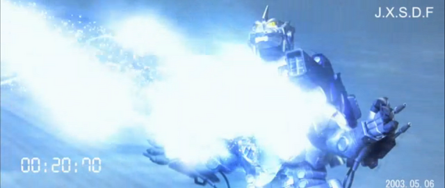 File:Godzilla X MechaGodzilla - Kiryu Uses The Absolute Zero Cannon.png