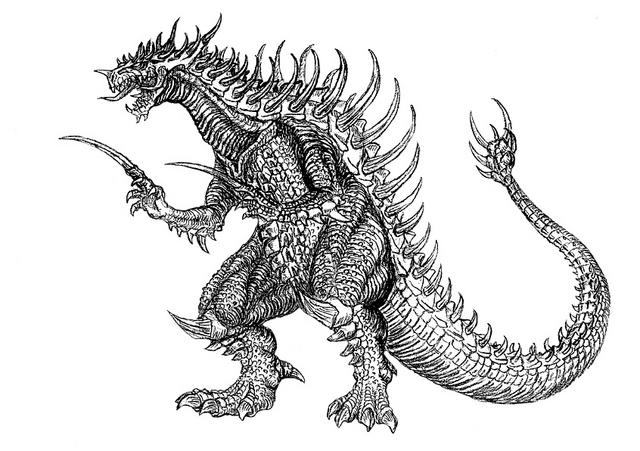 File:Concept Art - Godzilla 2000 Millennium - Orga 78.png