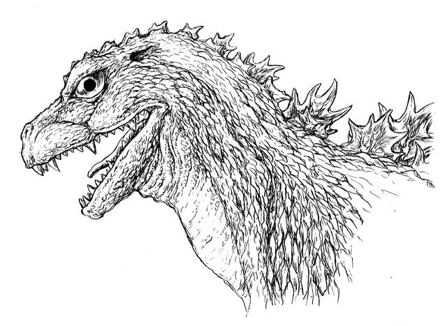 File:Concept Art - Godzilla 2000 Millennium - Godzilla 19.png