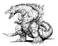 Concept Art - Godzilla vs. SpaceGodzilla - SpaceGodzilla 12