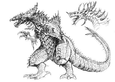 File:Concept Art - Godzilla 2000 Millennium - Orga 12.png