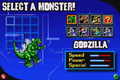 Gojira Godzilla Domination - Select A Monster