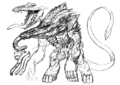 Concept Art - Godzilla 2000 Millennium - Orga 74