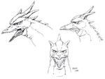 Concept Art - Godzilla vs. MechaGodzilla 2 - Rodan Head 1
