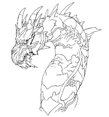 File:Concept Art - Godzilla Final Wars - Keizer Ghidorah Head Right.png