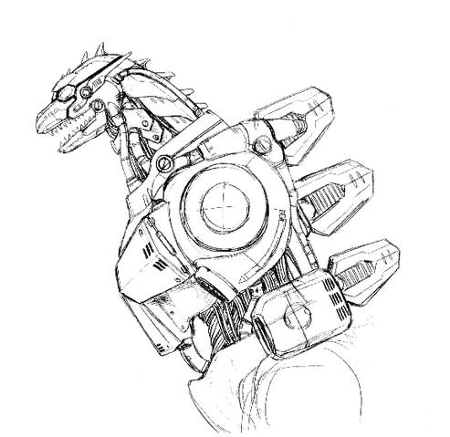 File:Concept Art - Godzilla Against MechaGodzilla - Kiryu 41.png
