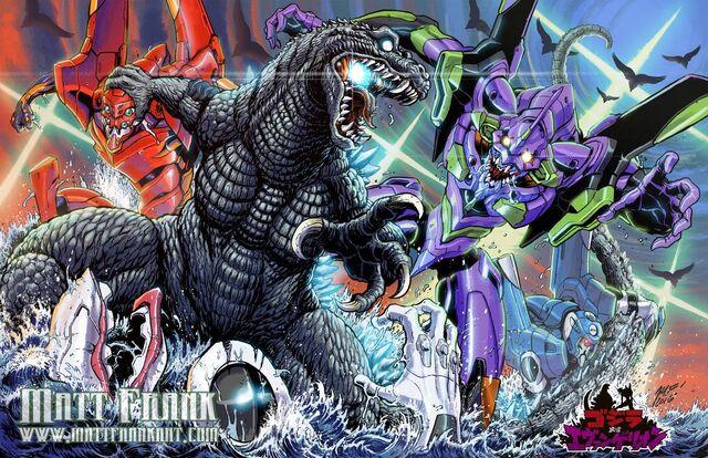 File:Godzilla vs Evangelion by Matt frank.jpeg