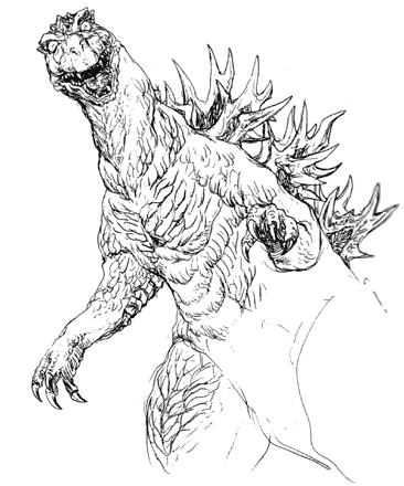 File:Concept Art - Godzilla 2000 Millennium - Godzilla 3.png