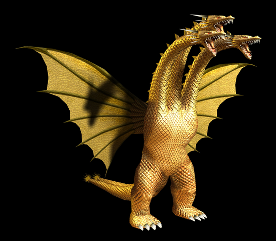 File:GDAMM Artwork - King Ghidorah (2).png