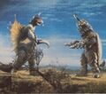 GVM - Gigan and Megalon Face to Face