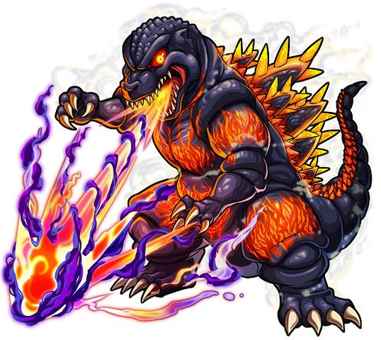 File:Godzilla X Monster Strike - Burning Godzilla.png