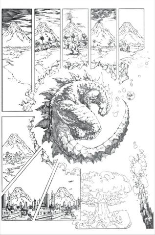 File:Concept Art - Godzilla Awakening - Godzilla Hibernation.png