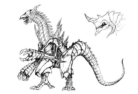 File:Concept Art - Godzilla 2000 Millennium - Orga 15.png