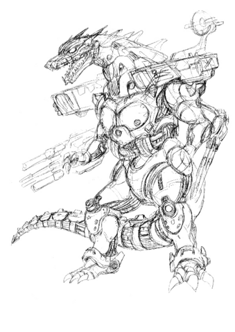 File:Concept Art - Godzilla Against MechaGodzilla - Kiryu 37.png