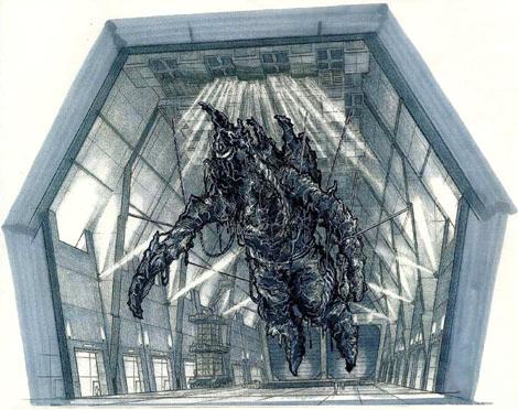 File:Concept Art - Godzilla Final Wars - Mummified Gigan 3.png