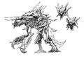 Concept Art - Godzilla 2000 Millennium - Orga 77