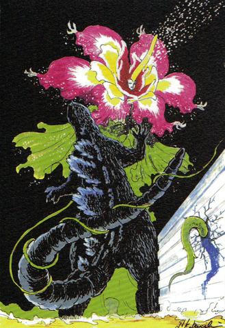 File:Concept Art - Godzilla vs. Biollante - Godzilla vs. Rose Biollante 3.png