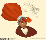 Gigantic Beckett art