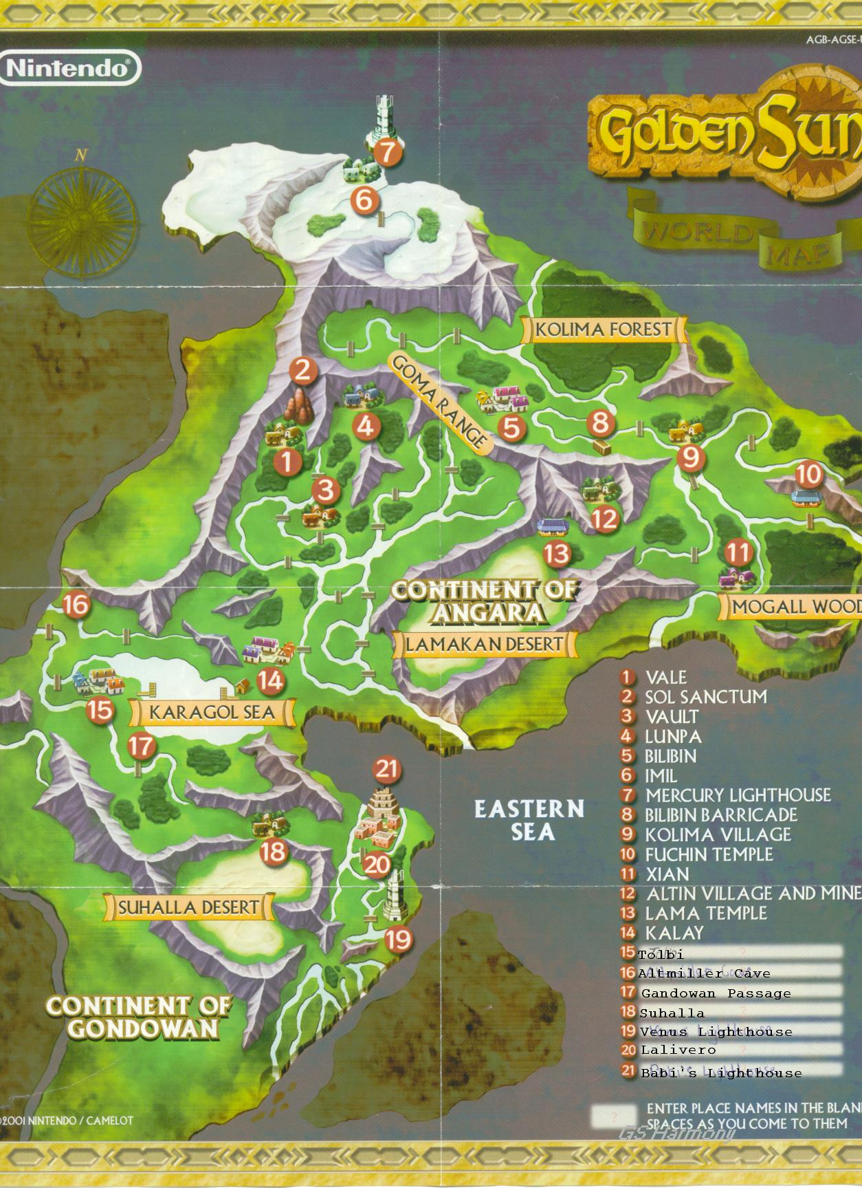 {Image GoldenSunWorldMapjpg Golden Sun Universe – Golden Sun World Map