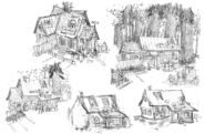 Ian Worrel Mystery shack sketches